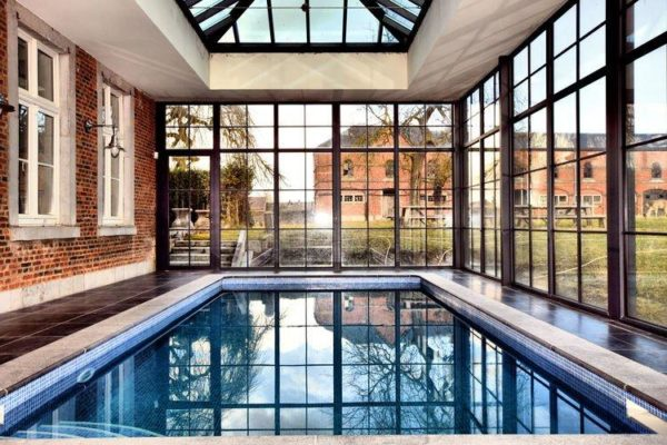 Chateau-ferme Delhaise in Mesnil - Ardennen - België - 25 personen - binnenzwembad