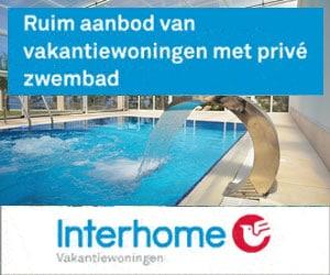 interhome vakantiehuizen met prive zwembad banner