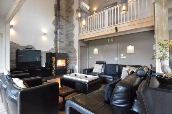 Villa Le Lodge à 8 Brins in Nadrin - Ardennen - België - 18 personen - woonkamer