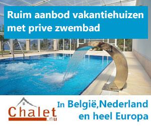 chalet.nu vakantiehuizen met prive zwembad banner